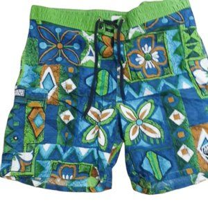 Vintage USA 80's/90's swim trunks green size 40